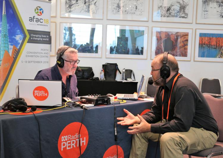 ABC Radio live at AFAC18 with cyclone researcher Dr David Henderson.