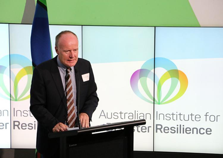 Australian Institute of Disaster Resilience launch November 2015 Andrew Coghlan