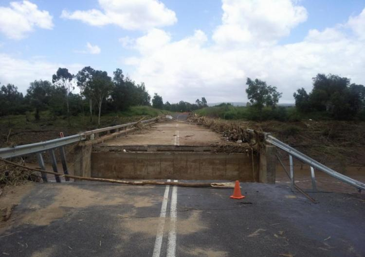 Flood damaged bridge.