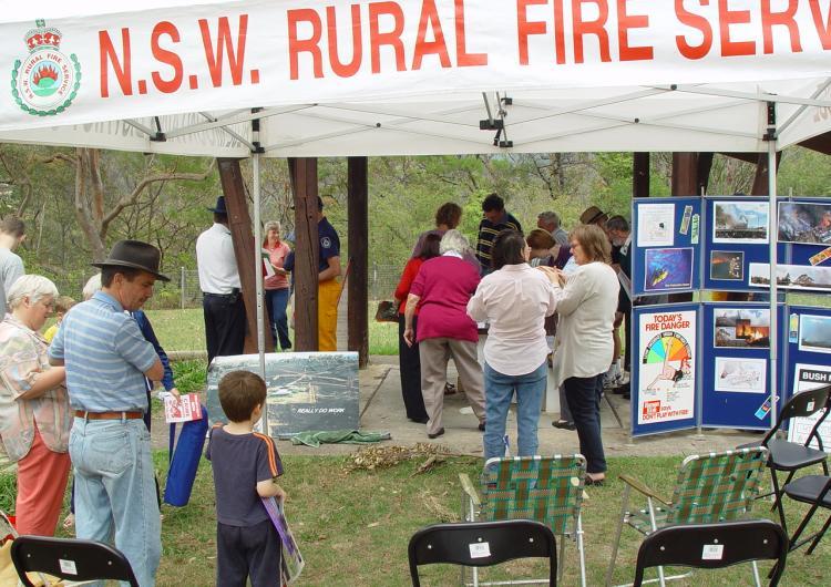 Bushfire preparedness community event. Photo credit: NSW Rural Fire Service.