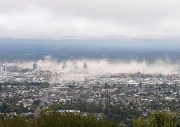 Dust clouds of the February 2011 Christchurch earthquake. Photo: Gillian Needham