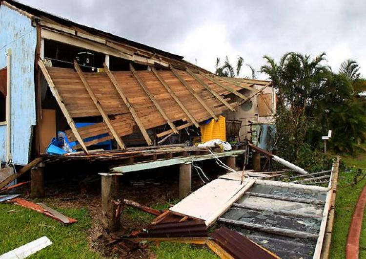 Cyclone Yasi roof damage. Photo: Cyclone Testing Station, James Cook University