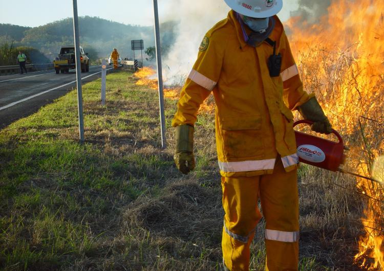 Prescribed burning in Queensland. Photo: QRFS.