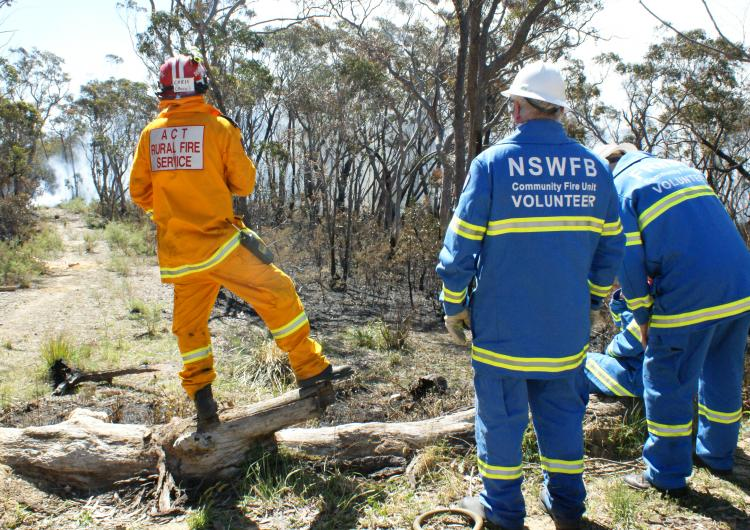 Volunteer firefighters. Photo: Fire and Rescue NSW.