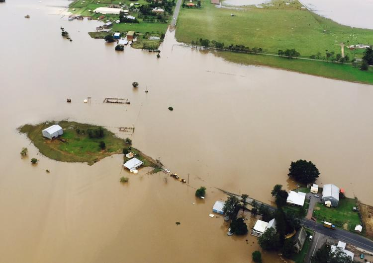 Flooding at Dungog. Photo: NSW RFS.