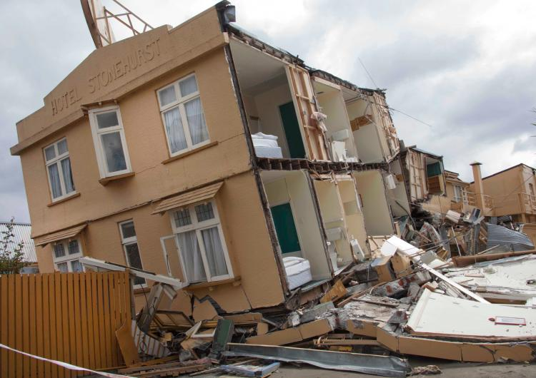 Earthquake damage, Christchurch 2011. Photo credit: John McCombe.