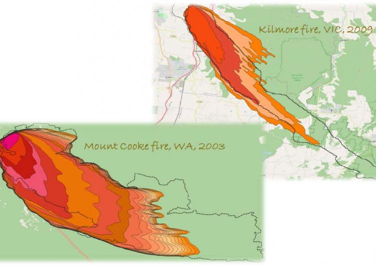 Mount Cook fire and Kilmore fire maps.