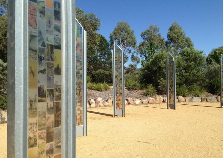 Canberra Bushfires Memorial. Photo: Melissa Parsons.