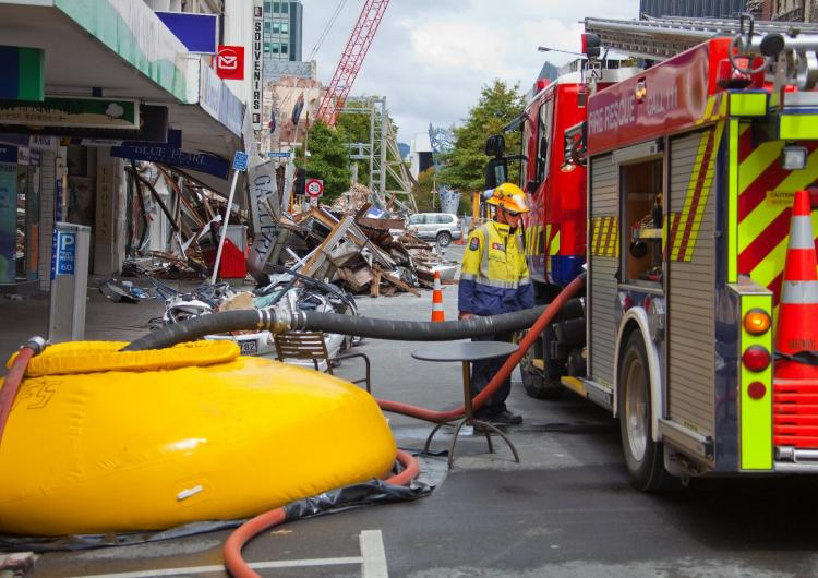 Fire emergency services respond to the 2011 Christchurch earthquakes. Picture: John McCombe, Fire and Emergency New Zealand