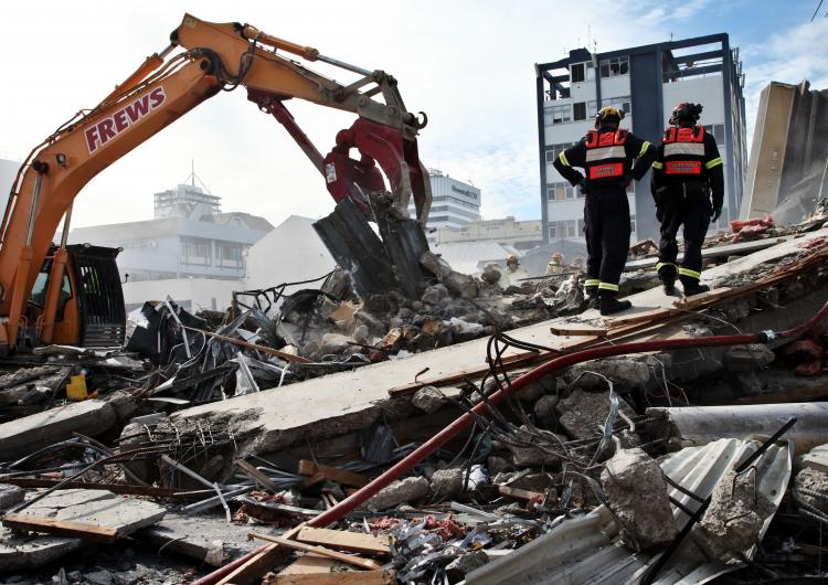 Damage to buildings from the Christchurch earthquake. Photo: Jo Johnson.
