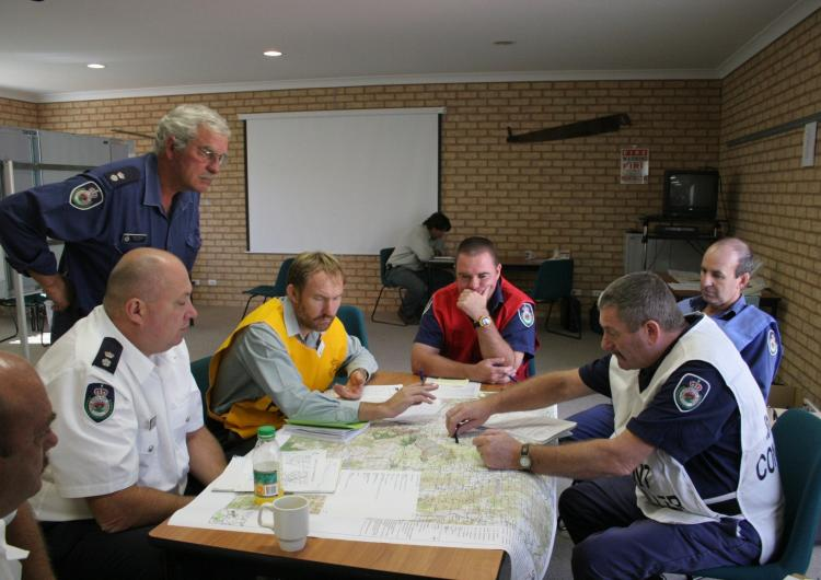Decision making in an emergency response context. Photo: NSW RFS.