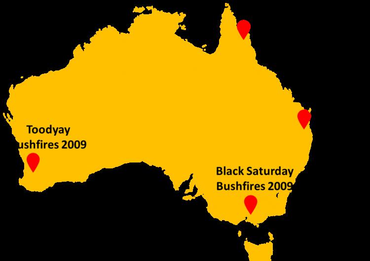 Four project case studies on map of Australia. Photo: Mehmet Ulubasoglu