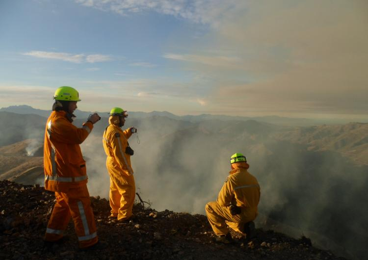Prescribed burn near Marlborough NZ. Photo NZFS.
