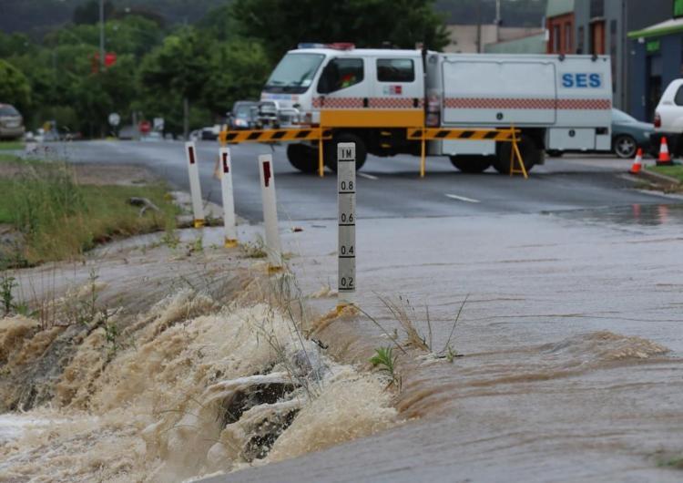 Myrtleford floods, Victoria 2017. Photo: Alex Coppel