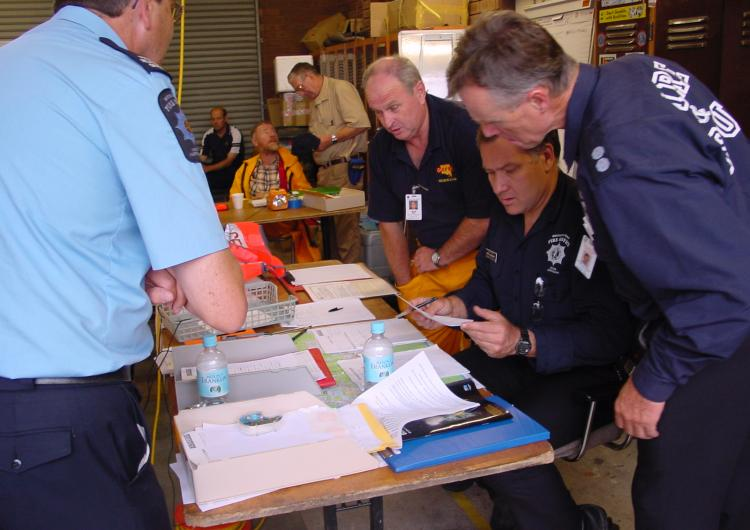Decision making in an emergency response context. Photo: SA Metropolitan Fire Service.