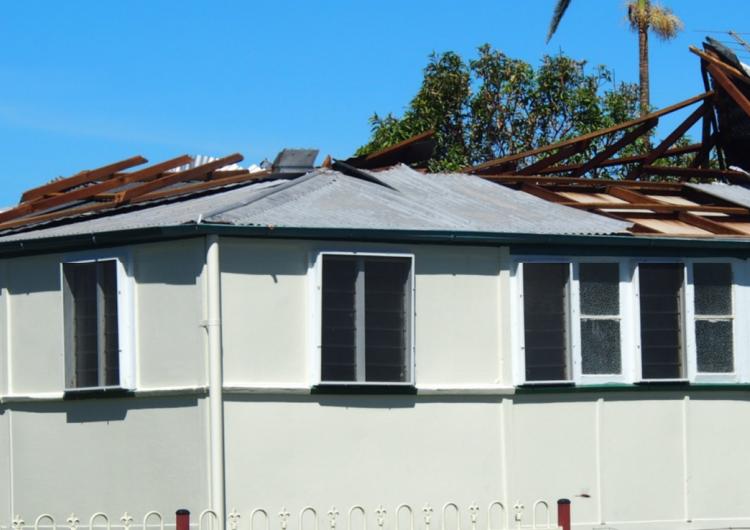 Damage due to Cyclone Debbie. Photo: Cyclone Testing Station