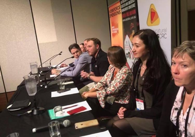 Panel session on communicating floodwater at ANZDMC19.