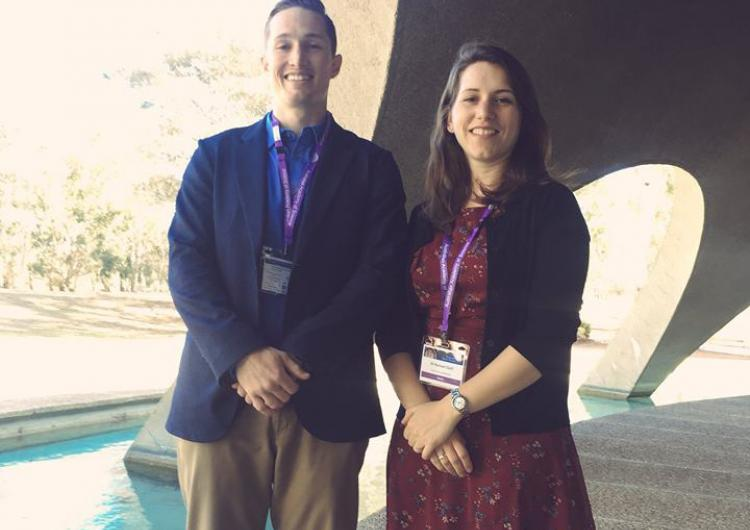Dr Daniel Smith & Dr Rachael Quill at the 2018 Science at the Shine Dome.