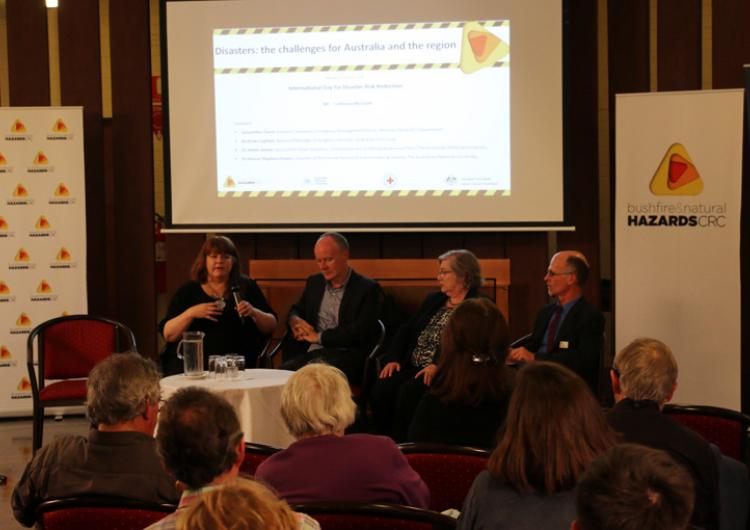 The forum panel at the International Day for Disaster Risk Reduction 2014