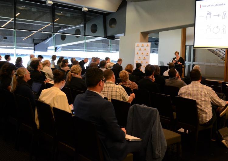 Dr Blythe McLennan speaking at the workforce and volunteerism 2030 RAF, Melbourne