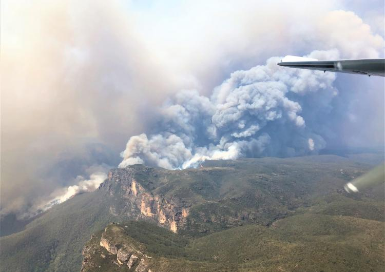 The Gospers Mountain fire in the Wollemi National Park, NSW. Photo: Rick Lang, US National Interagency Fire Center.