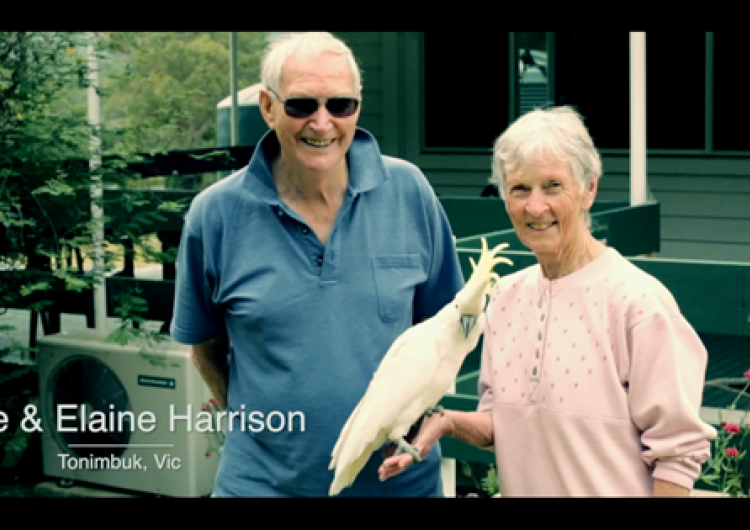 Mike and Elaine Harrison discuss bushfire risk