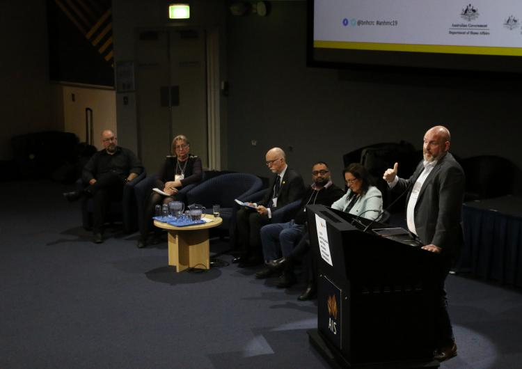 Panel discussion and audience participation at the 12th Australasian Natural Hazards Management Conference Canberra
