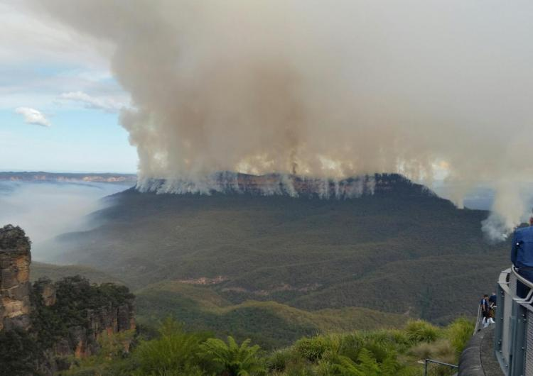 A fire at Mount Solitary in the Blue Mountains. Photo: Office of Environment and Heritage NSW