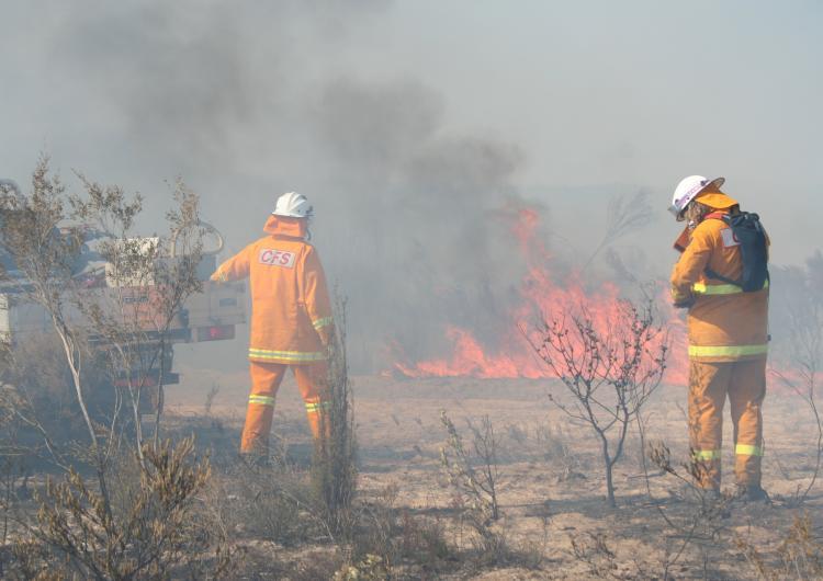 Hazard reduction burn, South Australia