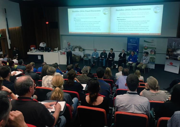 Panel discussion on intelligent fires at Bushfire 2016