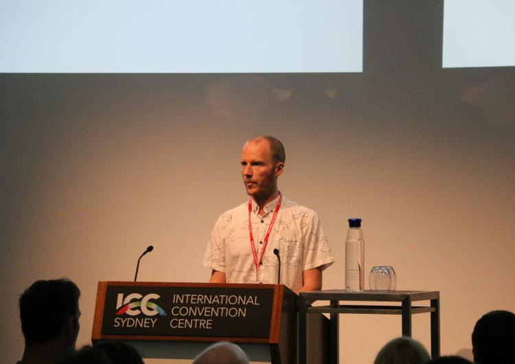 Dr Hamish Clarke presenting at the 2019 International Fire Behaviour and Fuels Conference
