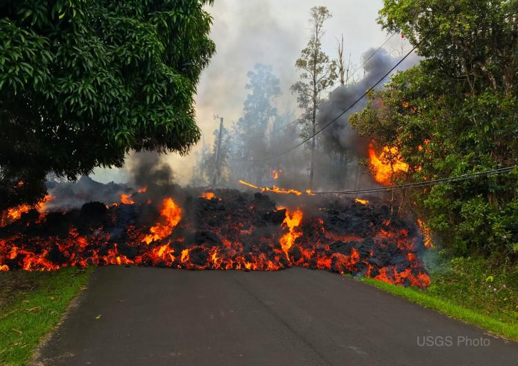 Lava advancing from the Kilauea volcano in Hawaii. Photo: US Geological Survey