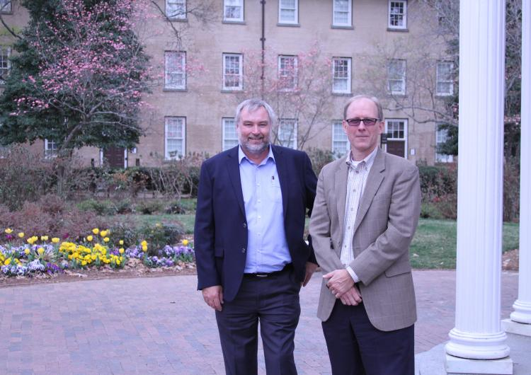 Gavin Smith and Michael Rumsewicz at UNC-Chapel Hill