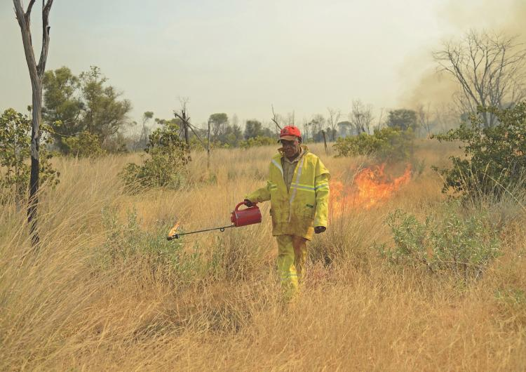 Phillip Jimmy on the Karlantjipa burning trip