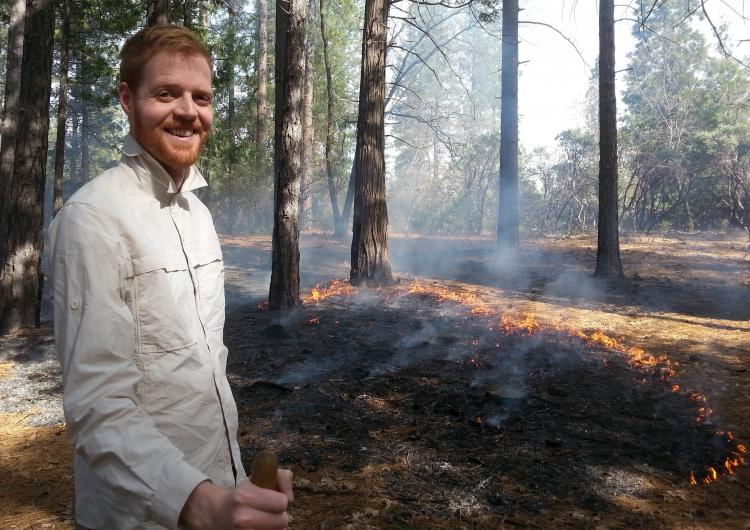 Daniel May conducting a prescribed burn near Chico, California. Photo: Don Hankins.