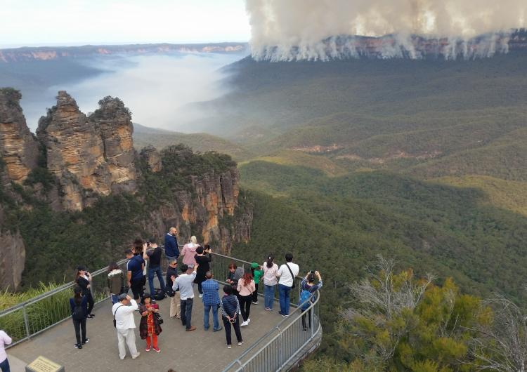 Hazard reduction burn in the Blue Mountains. Photo: NSW NPWS