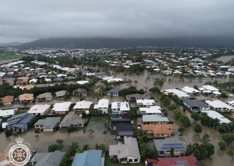 Aerial image from the Townsville floods 2019. Photo: QFES