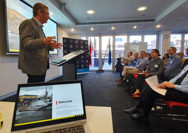 Dr Richard Thornton opening the Research Advisory Forum in Perth