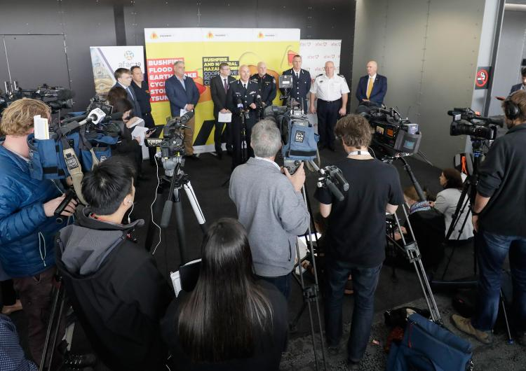 Dr Richard Thornton, fire chiefs, commissioners and the Bureau of Meteorology gathered in Melbourne at AFAC19 to launch the Australian Seasonal Bushfire Outlook.