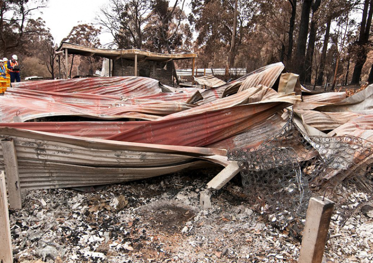 The Township of Kinglake suffered the loss of many buildings. Photo: CSIRO