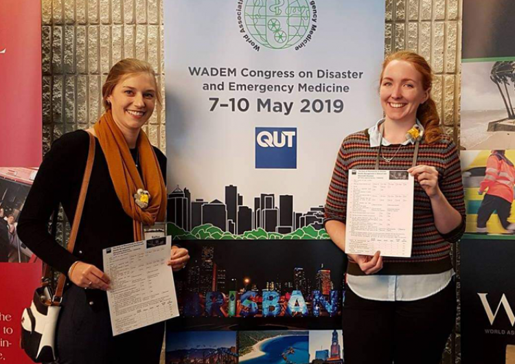 Dr Kaitlyn Watson and Dr Elizabeth McCourt at WADEM Congress and the launch of the Primary Care Special Interest Group. Photo: Dr Penelope Burns