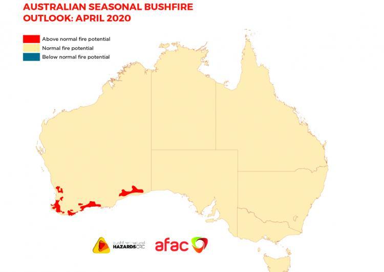 Australian Seasonal Bushfire Outlook: April 2020