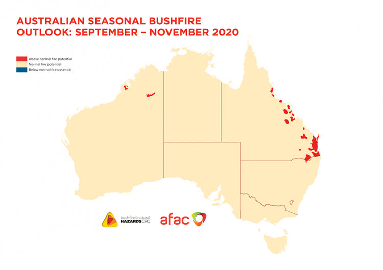 Australian Seasonal Bushfire Outlook: September - November 2020