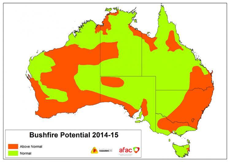 Southern Australia Bushfire Outlook 2014-15