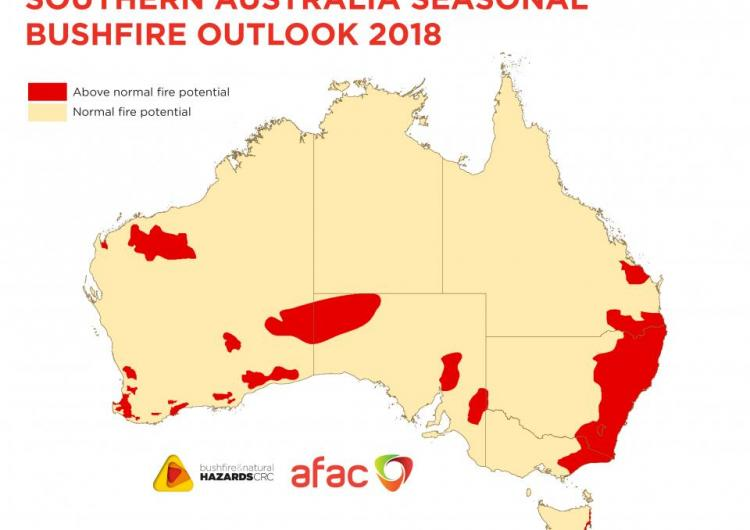 The Southern Australia Seasonal Bushfire Outlook 2018.