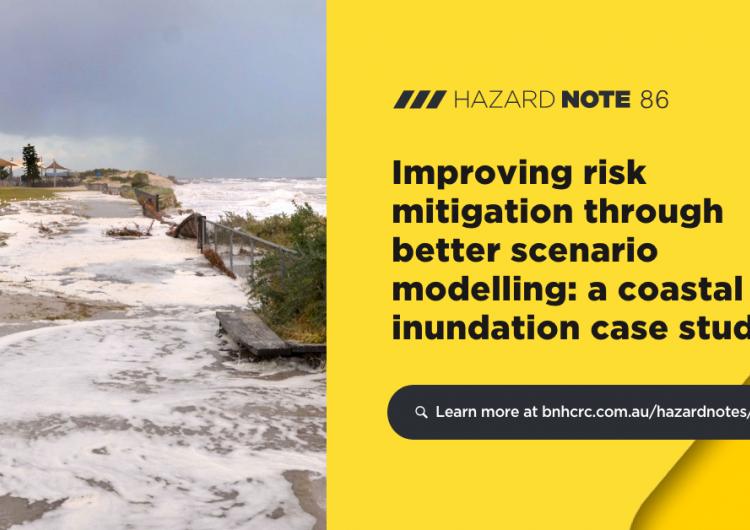 Hazard Note 86 – Improving risk mitigation through better scenario modelling (UNHaRMED)