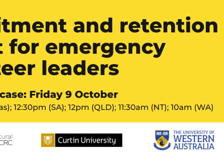 Recruitment and retention toolkit for emergency volunteer leaders