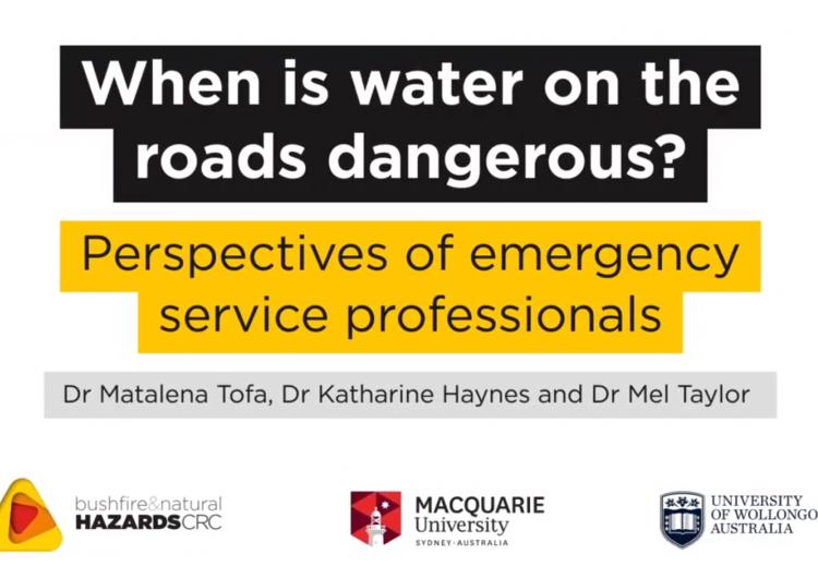 When is water on the roads dangerous?