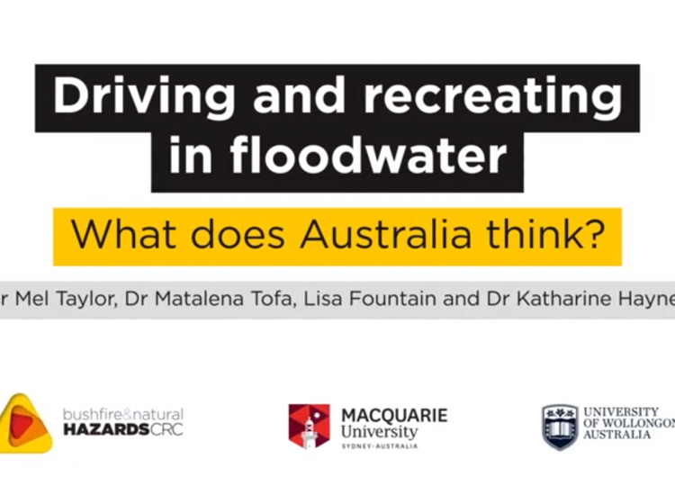 Driving and recreating in floodwater