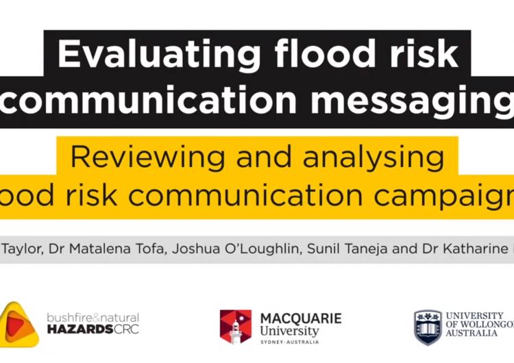 Evaluating flood risk communication messaging